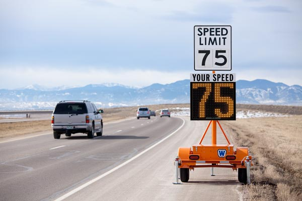 Radar speed limit trailers